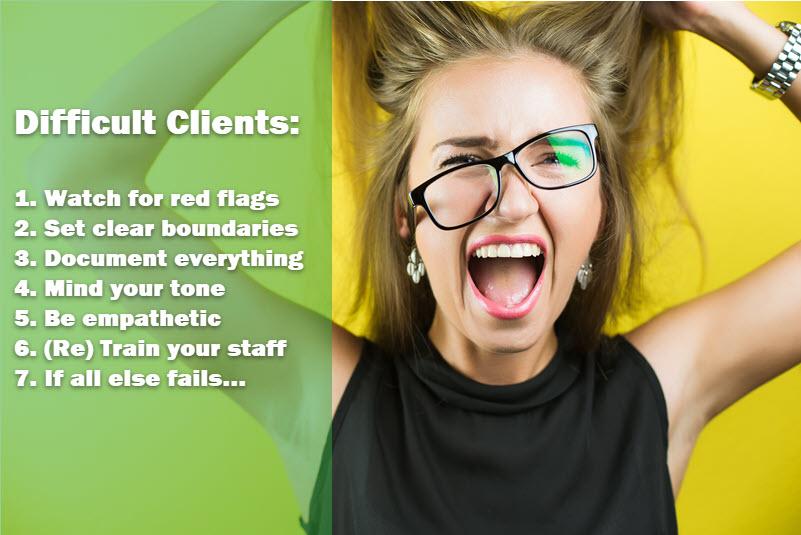Tratar con clientes difíciles en su negocio de limpieza del hogar