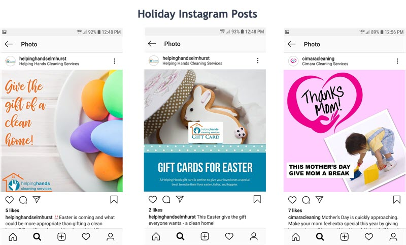 Sea creativo con sus promociones navideñas para la limpieza en Instagram