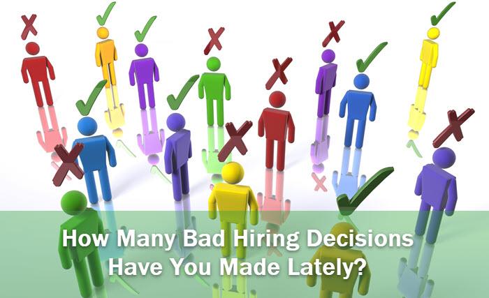 ¿Malas decisiones de contratación?