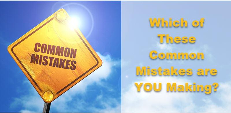Vender los errores que podría estar cometiendo y cómo solucionarlos