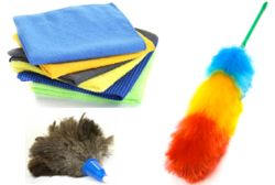 Herramientas para quitar el polvo para una empresa de limpieza