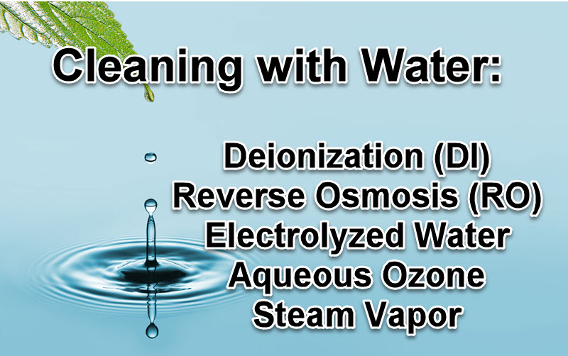 Limpieza con agua: lo que necesita saber